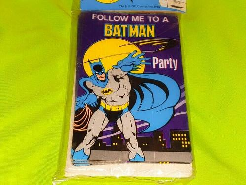 Vintage 1982 Batman Birthday Party Invitations - Dc Comics