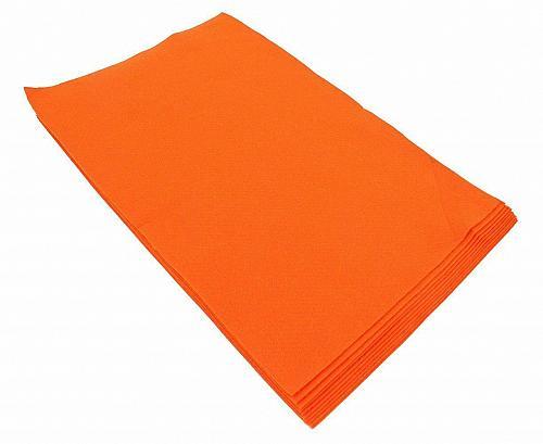 Fiesta Felt- 12x18- 10 Pieces- 100% Acrylic- Dark Orange