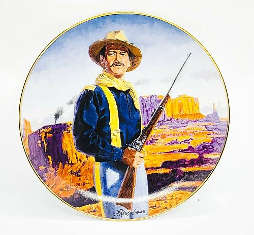 VINTAGE JOHN WAYNE HERO OF THE WEST FRANKLIN MINT COLLECTOR PLATE LIM EDITION