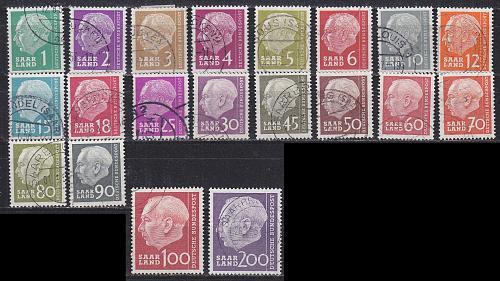 GERMANY Saar [1957] MiNr 0380-99 ( O/used )