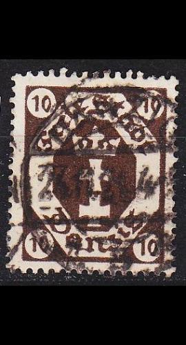 GERMANY REICH Danzig [1921] MiNr 0074 ( OO/used )