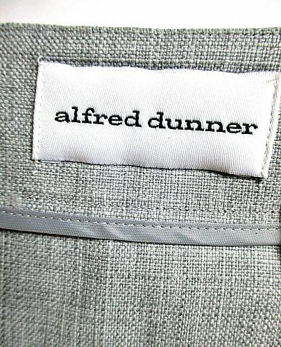 ALFRED DUNNER womens Sz 12 L/S gray CUT OUT FLOWER TRIM w STONES jacket (A3)