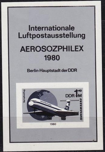 GERMANY DDR [1980] MiNr 2520 Block 59 SD ( oG/no gum ) Flugzeuge