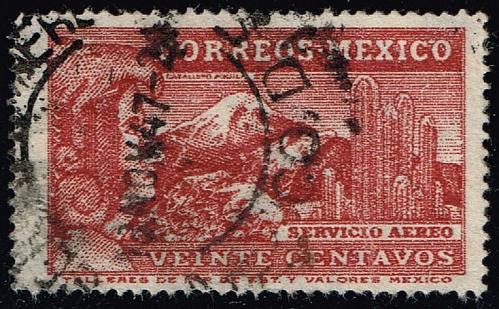 Mexico #C177A Eagle Man & Popocatepelt Volcano; Used (2Stars) |MEXC177A-03XRS