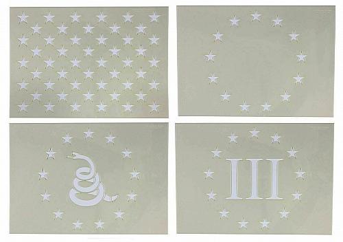 "4 Piece 8"" x 11.29"" G-Spec Star Field Stencil Set 14 Mil -Painting /Crafts/ Temp"