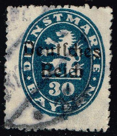 Germany-Bavaria #O56 Official Stamp; Used (1.60) (1Stars)  BAYO56-01XVA