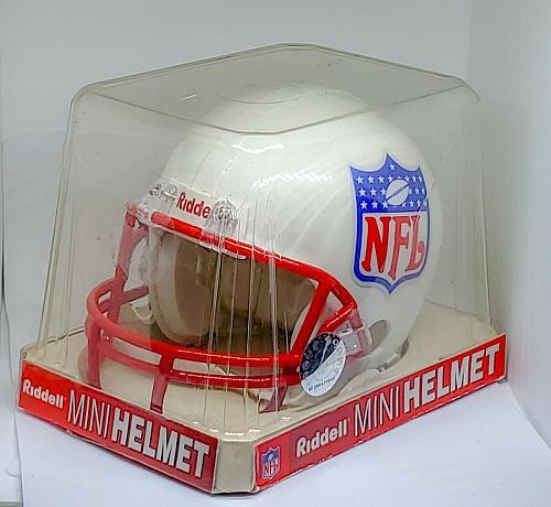 NFL SHIELD LOGO Riddell Red Mask Mini Helmet Cool