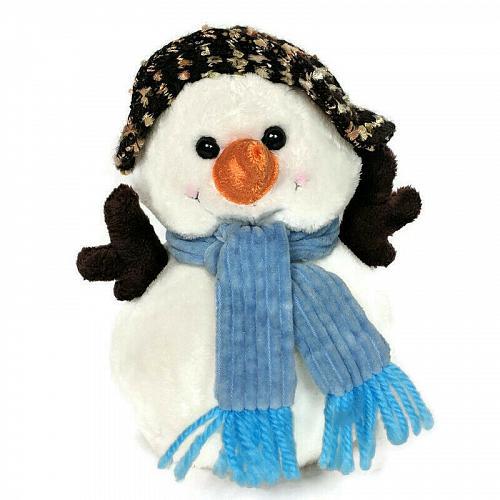 "Christmas Snowman Hat Scarf Winter Plush Stuffed Animals 6.5"""