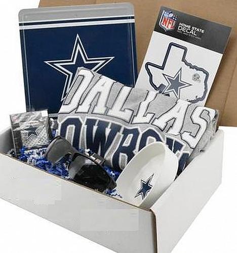 NFL Dallas Cowboys box kit gift set Shirts, Hats, Watches, Socks, Tumblers