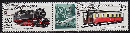 GERMANY DDR [1980] MiNr 2562 WZd482 ( OO/used ) Eisenbahn