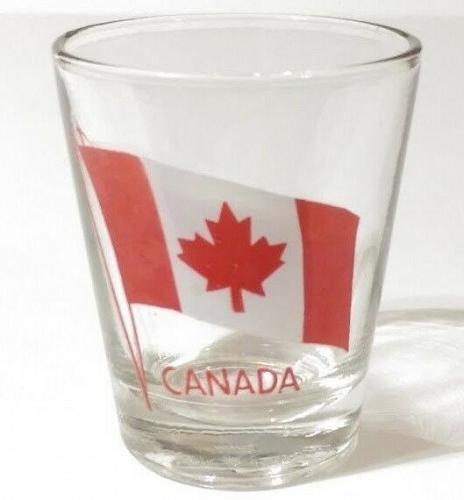 "Canada Flag Logo 2.25"" Collectible Shot Glass"
