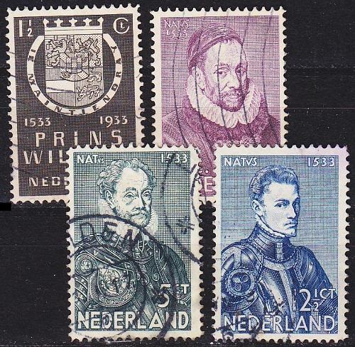 NIEDERLANDE NETHERLANDS [1933] MiNr 0257-60 ( O/used )