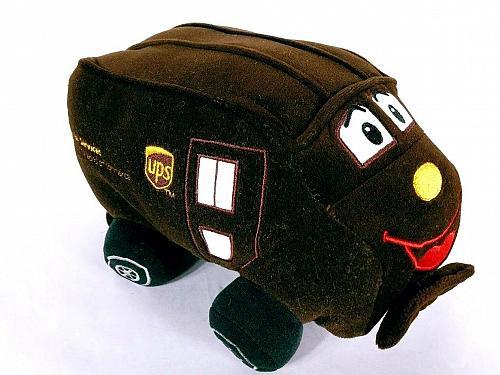 "UPS Worldwide Services Plush Stuffed Talking Truck 9"""