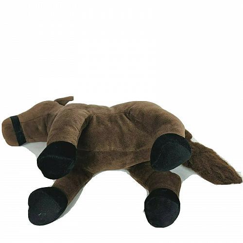"Russ Brown Horse Zipper Purse Plush Stuffed Animal 13"" Tall"