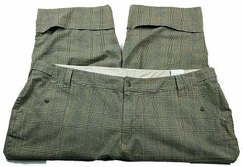 Venezia Womens Capri Pants Size 28 Brown Gray Plaid Pockets