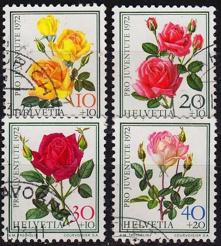SCHWEIZ SWITZERLAND [1972] MiNr 0984-87 ( O/used ) Pro Juventute