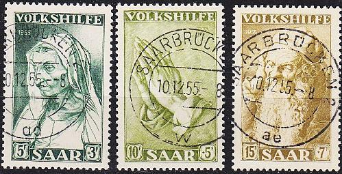 GERMANY Saar [1955] MiNr 0365-67 ( O/used )