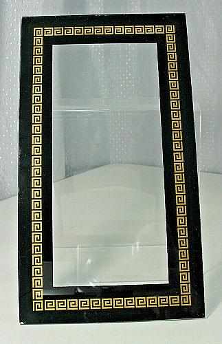 Vintage Gold Stenciled Kitchen Clock Glass Panel NOS New Old Stock