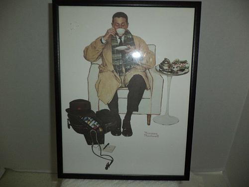 Set Of Four Norman Rockwell Framed Prints