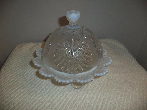 French Opalescent Butter Dome