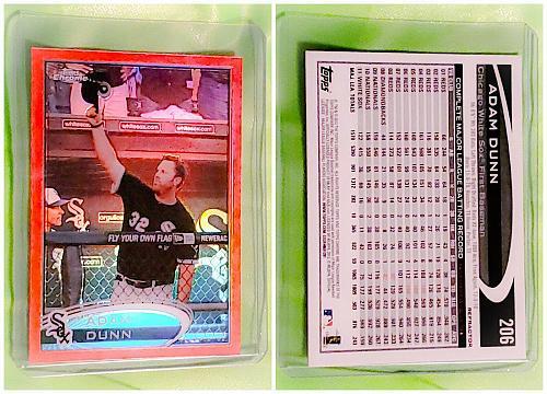 MLB ADAM DUNN CHICAGO WHITE SOX 2012 TOPPS CHROME ORANGE REFRACTOR #206 MNT