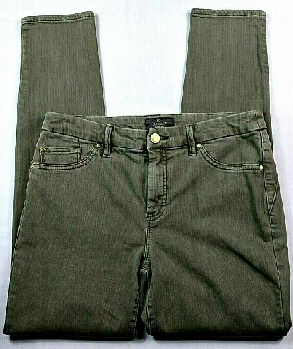 Chicos So Slimming Womens Skinny Jeans Size XS Gray Wash Stretch
