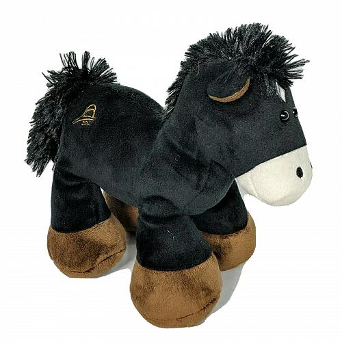 National Shrine Way Of Lights Christmas Black Horse Plush 2012 9.5""