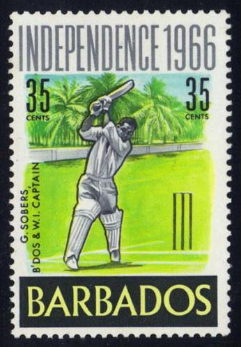Barbados #292 Garfield Sobers - Cricket; MNH (3Stars) |BAR0292-01