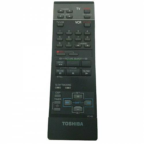 Genuine Toshiba TV VCR Remote Control VC-65 Tested Works