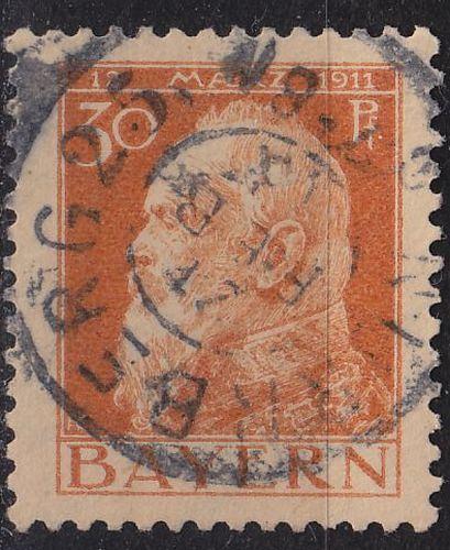 GERMANY Bayern Bavaria [1911] MiNr 0081 I ( O/used )