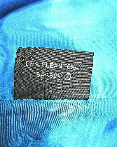 ALBERT NIPON womens Sz 8 L/S blue RAYON button down FULLY LINED jacket (C2)P