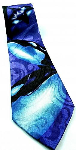 Orca Killer Whale Animal Mammal Marine Ocean Sea Life Novelty Tie