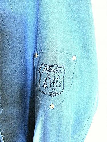 KAELIN womens Small petite L/S blue FULL ZIP 2 pockets FULLY LINED jacket (X)P