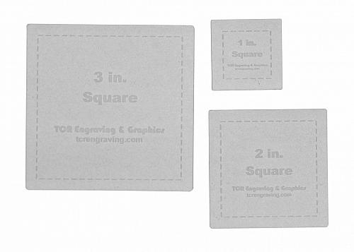"""Square Templates. 1"""", 2"""", 3"""". - Clear 1/8"""""""