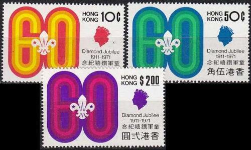 HONGKONG HONG KONG [1971] MiNr 0255-57 ( **/mnh )