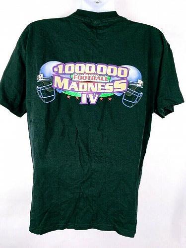 100,000 Football Madness IV Men's T-Shirt XL Graphic Short Sleeve Black
