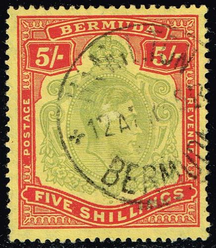 Bermuda #125a King George VI; Used (2Stars)  BER0125a-01XRP
