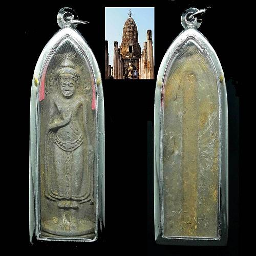 ANTIQUE PHRA RUANG RANG PUEN KRU WAT PHRA SRI SUKHOTHAI THAI BUDDHA AMULET CASE