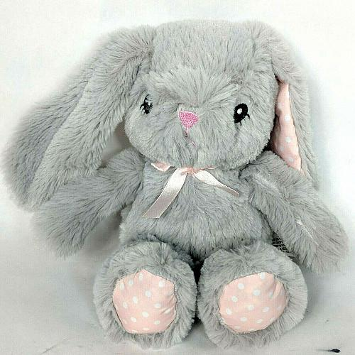 Toys R Us Baby So Sweet Gray Easter Bunny Rabbit Plush Stuffed Animal 2015 8""