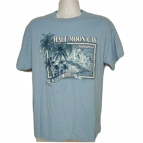 Half Moon Cay Carnival Cruise T-Shirt Lg Short Sleeve Bahamas Tropical Paradise