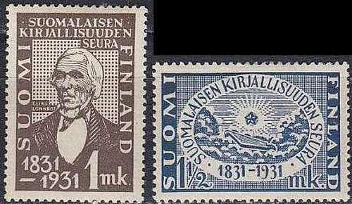 FINLAND SOUMI [1931] MiNr 0162-63 ( */mh )