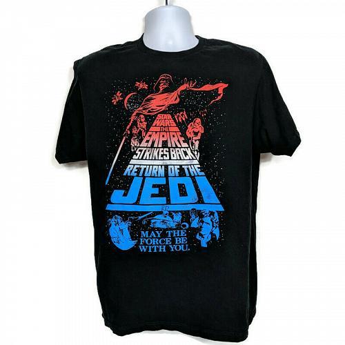 Star Wars Empire Strikes Back Return Of The Jedi T-Shirt Size Large Short Sleeve