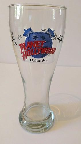 """Planet Hollywood Orlando 8.25"""" Collectible Beer Pilsner Glass"""