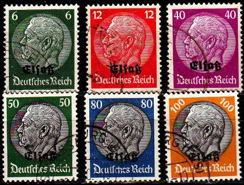 GERMANY REICH Besetzung [Elsass] MiNr 0001 ex ( O/used ) [01]