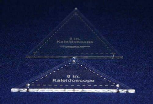 "2 Pc Kaleidoscope Set 8"" 1/8"" for 8"" Finished Square W/holes & Seam Allowance"