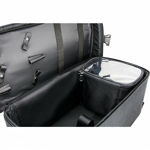Mens Rolling Barber Case Clipper Trimmer Tools Soft Sided Storage Organizer New