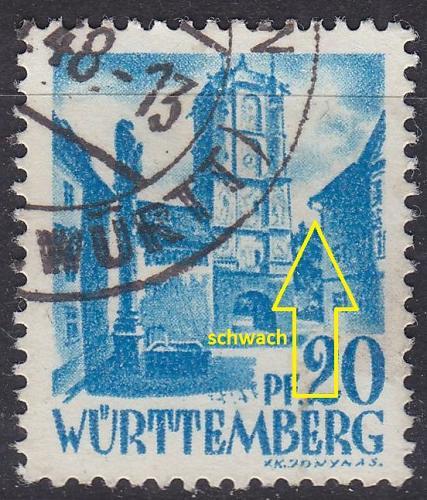 GERMANY Alliiert Franz. Zone [Württemberg] MiNr 0007 yv II ( O/used ) [01]
