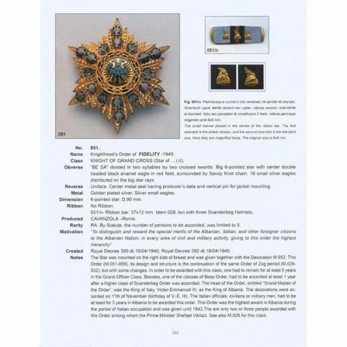 Albanian Medals by Artan Lame. Volume 1, medals of 1914-1944. English, Albanian
