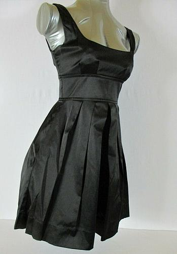 NECESSARY OBJECTS womens XS sleeveless black EMPIRE WAIST fully lined dress (C4)
