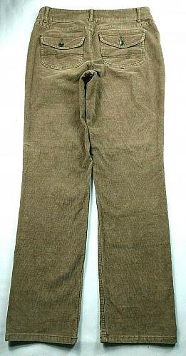 Sonoma Women's Modern Straight Corduroy Jeans Size 6 Reg Stretch Brown Wash